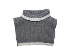 Wheat neck warmer dark melange grey